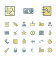 icons thin blue business bank vector image vector image