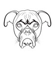 isolated boxer avatar vector image vector image