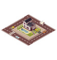 isometric cottage building private real estate vector image
