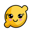 kawaii cute happy lemon fruit vector image vector image
