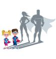 Kids Superhero Concept vector image vector image