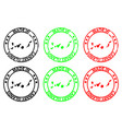 made in canary islands rubber stamp vector image vector image