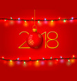 merry christmas and happy new year 2018 vector image vector image