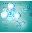 Molecule infographics vector image vector image