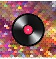 Music mosaic background vector image