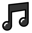 musical note linecolor vector image vector image