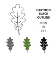 oak leaf icon in cartoon style for web vector image vector image