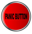 panic button vector image vector image