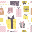 party presents doodle colorful seamless pattern vector image vector image