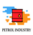 petrol industry container for liquid vector image vector image