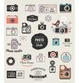 Photographer cameras photo studio icons set vector image vector image