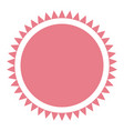pink label emblem decoration frame circular vector image