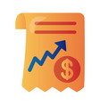 price hike receipt with arrow up infographic vector image vector image