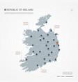 republic ireland infographic map vector image vector image