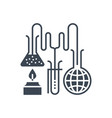research glyph icon vector image vector image