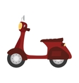 Scooter motorcycle vehicle icon vector image