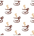 Seamless background pattern of steaming coffee vector image vector image