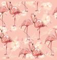 seamless flamingo pattern vector image vector image