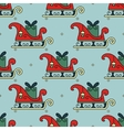 seamless pattern with Santa s sleigh vector image