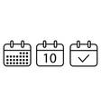 set calendar icons vector image
