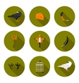 set of flat icons crow vector image vector image