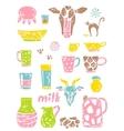 set of milk things vol 2 vector image