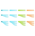 set of three color of labels vector image vector image