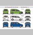 set passenger mini vans swb l1 2018 vector image vector image