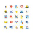 social network like flat icon set vector image vector image