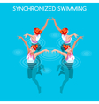 Synchronized Swimming 2016 Summer Games 3D vector image