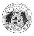 the official seal of the us state of missouri in vector image vector image