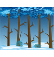 thick winter wood and snow snowdrifts vector image vector image