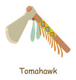 tomahawk icon isometric 3d style vector image