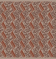 vintage pattern with coral ornaments vector image vector image