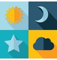 weather set icon Eps10 vector image