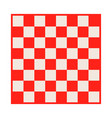 empty chessboard isolated board for chess or vector image