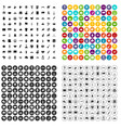 100 landmarks icons set variant vector image vector image