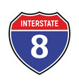 8 route sign icon road 8 highway vector image vector image