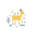 a cute yellow gazelle vector image