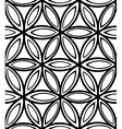 Abstract seamless monochrome floral pattern vector image vector image