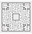 Abstract square maze an interesting game for