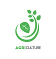 agriculture business logo template with green vector image vector image