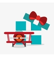 Airplane toy and game design vector image vector image