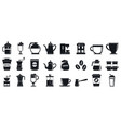 barista icons set simple style vector image