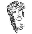 beautiful girl Ukrainian vector image vector image