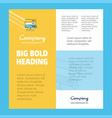 board business company poster template with place vector image