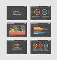 business presentation templates with infographic vector image