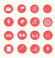 business white icons collection vector image