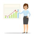 cartoon smiling businesswoman in suit vector image