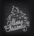 christmas on chalkboard vector image